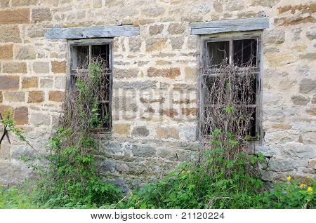 Windows Of Old Abandoned Mill