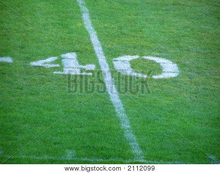 Football 40 Yard Line
