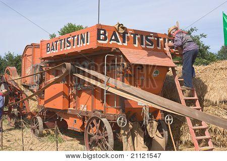 Old Treshing Machine