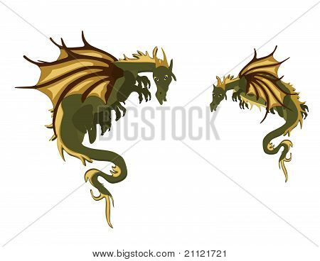 Pair of Mystical Dragons..