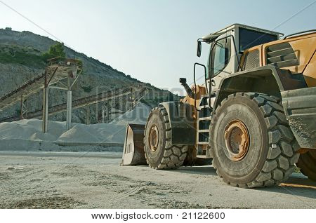 Quarry and Bulldozer