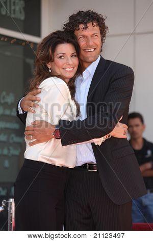 LOS ANGELES - JUN 02:  Shania Twain & Husband Walk of Fame Honors Shania Twain  on June 02,2011 in Hollywood, CA