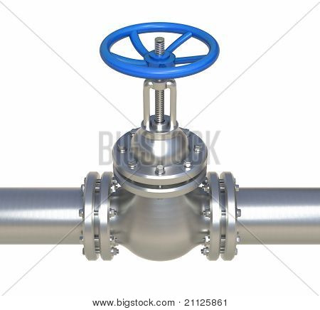 Gas Steel Pipeline With Valve