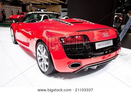 Moscow, Russia - August 25: Red Sport Car Audi R8 At Moscow International Exhibition Interauto On Au