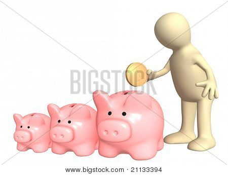 Conceptual image - a choice of bank account