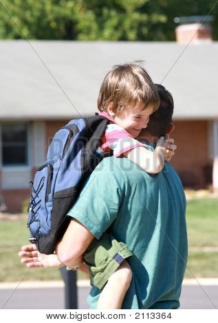 Little Boy Hugging Dad