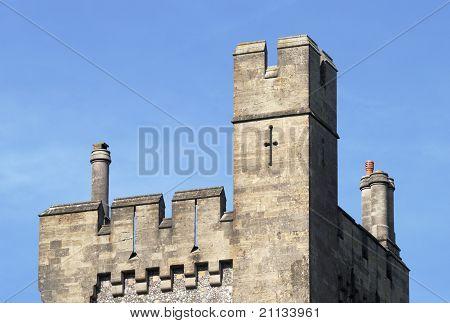 Torre en el castillo de Arundel. Inglaterra