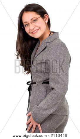 Retrato de mulher de negócio amigável