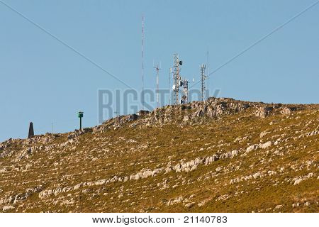 Communication Antennas On A Rocky Hill, Pombal - Portugal