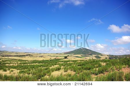 Landscape Of Field Near Of  Mertola, Portugal.