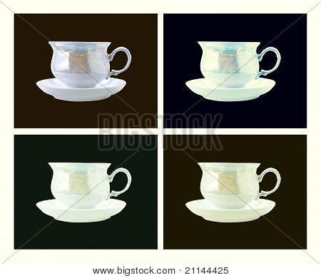 Xícara de café de estilo retrô