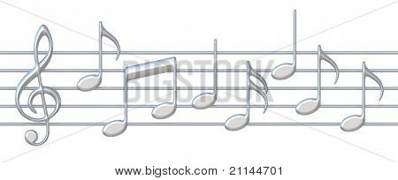 Music Notes On Staves