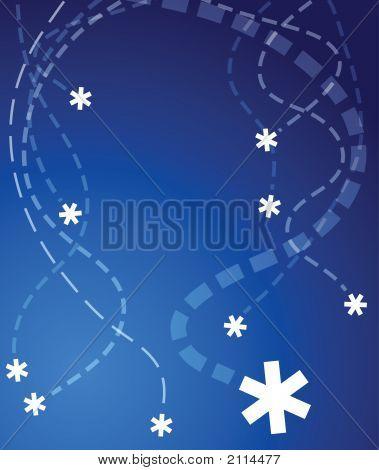 fliegender Schneeflocken