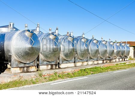 fermentation tanks, Begadan, Bordeaux Region, France