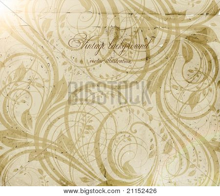 Classical wallpaper with a flower pattern. eps 10.