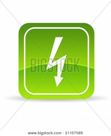 Green Lightning Bolt Icon
