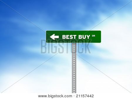 Best Buy Drive Road Sign