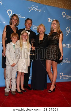 LAS VEGAS - JUN 19:  Collen Bell, Brad Bell, their children, and Lee Phillip Bell in the Press Room of the  38th Daytime Emmy Awards at Hilton Hotel & Casino on June 19, 2010 in Las Vegas, NV.