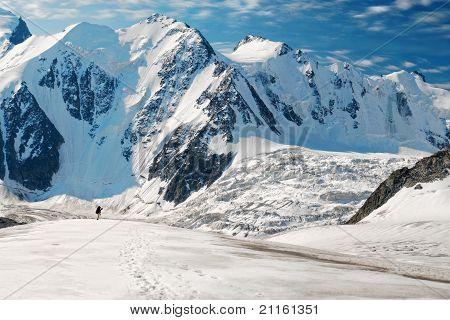Man On Glacier