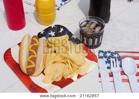 4Th Of July Hotdog Meal