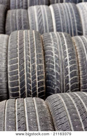 Viejo patrón de textura de fondo de neumáticos