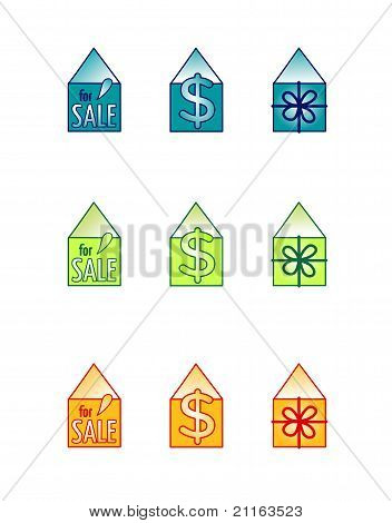 House For Sale vector Icon Set