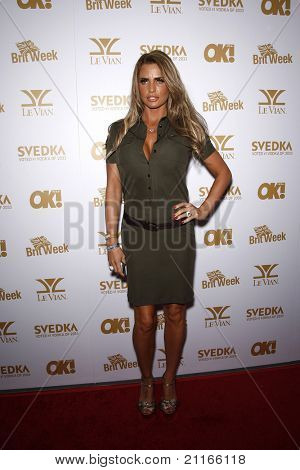 WEST HOLLYWOOD - FEB 25: Katie Price at the OK! Magazine and BritWeek celebrate the Oscars party held at the London Hotel in West Hollywood, California on February 25, 2011
