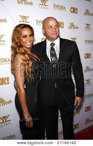 WEST HOLLYWOOD - FEB 25: Mel B aka Melanie Brown, husband Stephen Belafonte at the OK! Magazine and BritWeek celebrate the Oscars party at the London Hotel in West Hollywood, C  on February 25, 2011