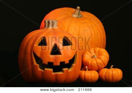 Jack O Lantern With Pumpkins