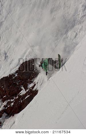 Freerider falling down