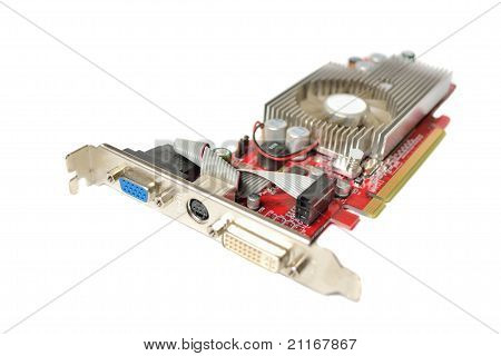 Video Card Isolated On White