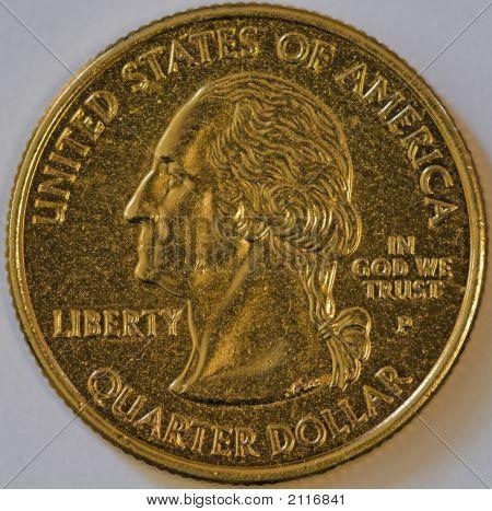 Gold State Quarter