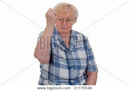 Elderly Woman Threatening