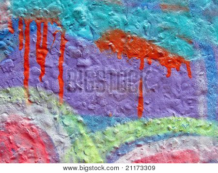 Abstract Color Stone Wall, Graffiti Background Details