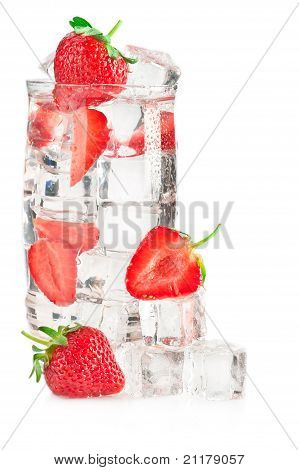Iced Mineral Water With Strawberry