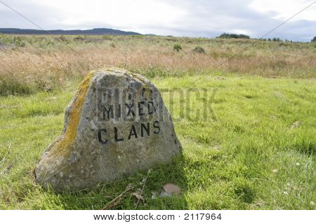 Clan Monument At Culloden