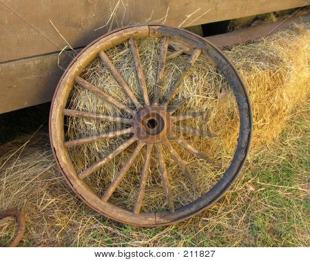 Broken Stagecoach Wheel, Landscape View (centered)