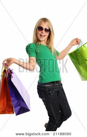 Young Blond Shopping Girl