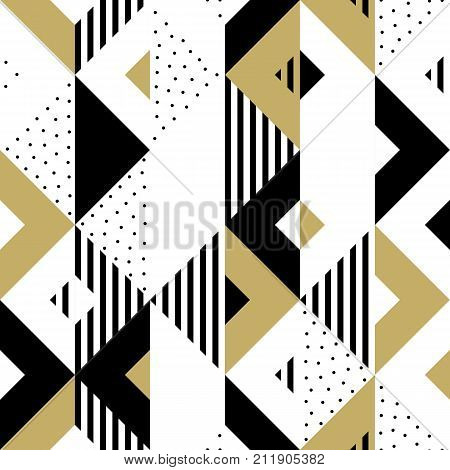 abstract pattern golden geometric ornament gold triangle square