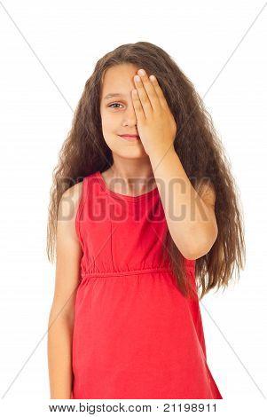 Girl Covering One Eye