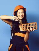 Pretty Cute Sexy Builder Girl poster