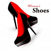 stock photo of high heel shoes  - Illustration of fashion high heel woman shoes - JPG