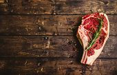 Raw Marbled Meat Steak poster