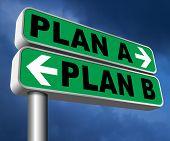 plan a plan b backup plan or alternative option 3D, illustration poster