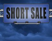 short sale sign reduced prices sales billboard 3D, illustration poster
