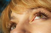 Blond Girl'S Eye Closeup
