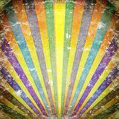 Multicolor Sunbeams grunge background. A vintage poster. poster