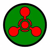 picture of chemical weapon  - Chemical weapon symbol  - JPG