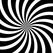 Hypnotic Swirl Lines Abstract White Black Optical Illusion Vector Spiral Pattern Background poster