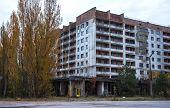 Постер, плакат: Abandoned Pripyat City In Chernobyl Exclusion Zone At Autumn Time